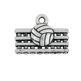 19.5*15 mm 50pcs metal single side volleyball net sports charm