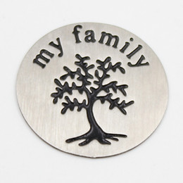 22.5MM my family tree plates for 30mm round locket 316L Stainless steel Silver plates for 30mm round locket(only plate)