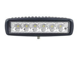 6'' 18W LED Work Light White Light Mini LED Bar 18W Spot Flood Motorcycle LED DRL Light Bars 12V 24V ATV Offroad Light