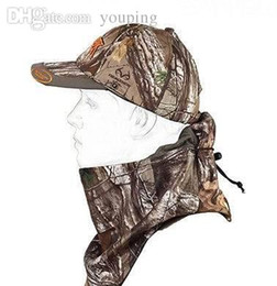Wholesale Hunting Camoufalge Cap Multifunctional Face Mask Camo Baseball Hat For Jungle Forest