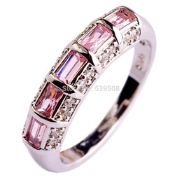 2015 Junoesque Women Jewelry Pink Sapphire Fashion 925 Silver Ring Size 7 8 9 10 11 12 Wholesale Free Shipping New Style
