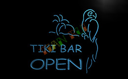 Wholesale LB067 TM OPEN Tiki Bar NEW Displays Pub Neon Light Signs Advertising led panel jpg