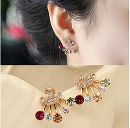 Wholesale Unique Design Fashion Butterfly Crown Temperament Auricular Needle Original Earrings With High Quality For Women Gift