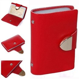 Wholesale Best selling Candy Colors Genuine Cow Leather Name Business Credit Card Holder Women amp Men s bank card amp id