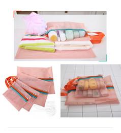 Wholesale hot sale Pieces Set Travel Luggage Packing Mesh Pouch Organizer Bag Shoe Bag Underwear Travel Bag