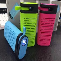 Boîte de haut-parleur de radio en Ligne-Nouveaux TG06 Bluetooth Mini haut-parleur 5 en 1 haut-parleurs portables sans fil, Banque de puissance, lampe de poche, radio FM, TF USB MP3 Music Player Box Outdoor