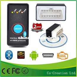 Wholesale News Super Mini ELM327 Bluetooth ELM OBD2 OBD II CAN BUS Diagnostic Scanner Tool Switch Works on Android Symbian Windows