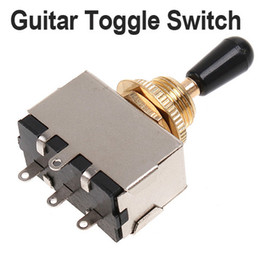 Golden 3 Way Toggle Switch for Electric Guitar with Black Knob Guitar Parts