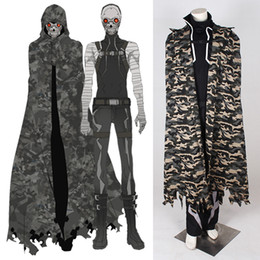 Wholesale 2015 Sword Art Online II Costume Cosplay For Death Gun Cloak cosplay Full Suit Custom Made Any Size drop shipping