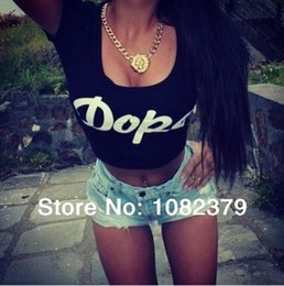 Wholesale Crop Blouse Wholesaler - NEW 2015 Fashion Brand blouse shirt crop top tee lady summer short shirt and short design letter women clothing peplun tops