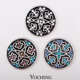 Wholesale Vocheng NOOSA Ginger Snaps Inlaid Colors Crystal Fashion Snap Button Jewelry Accessories Vn