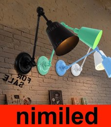 Wholesale nimi637 American European style Garden Bedroom Bedside Lamp Mirror Balcony Aisle Lighting Stairs Retro color Backhoes Hotel Wall Lights
