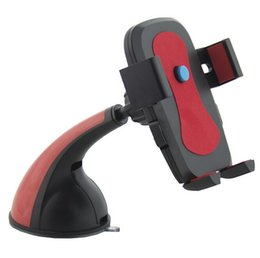 Wholesale 360 Flexible Car Auto Windshield Dual Clip Mount Holder Stand Bracket for Samsung Galaxy S4 S5 Note