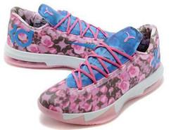 Chaussures sneaker KD 6 tante perle Floral Lumière Arct Athlétisme Nouveau KD6 Mens Basketball chaussures New Kevin Durant Chaussures de course chaussures de chaussures à partir de kd6 perles tante fabricateur