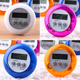 Cooking Timer Digital Alarm Kitchen Timers Gadgets Mini Cute Round LCD Display Count Down Tools Battery Installed With Clip Free DHL