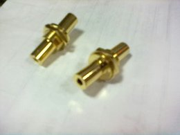 Wholesale female audio adapter for mastering nut washer mobile computer peripheral copper gold plated audio adapter