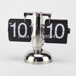 Wholesale Top quality Vintage Retro Clock Flip clock Stand Desk Table Clock mm
