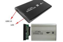 """Una caja portadiscos disco en Línea-Caja de la caja del disco duro 2.5 """"Sata a la impulsión de disco duro del USB 3.0 Caso duro externo del disco duro de CADDY Caja externa DHL shipping"""