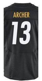 Wholesale Factory Outlet Men s Dri Archer Jersey Elite White Black Stitched Name And Number