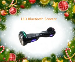 New LED Light Scooter 2 Wheel Self Smart Balance Scooter Electric Skateboard with Led Light Hoverboard for Kids Adult