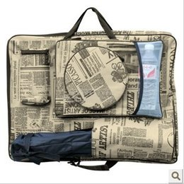 Wholesale-4K newspaper sketchpad bag graphics drawing tablet bag art set school supplies art supplies free shipping promotion