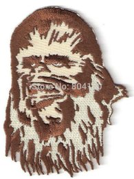 Wholesale 4 quot CHEWBACCA CHEWY Star Wars Character Sci Fi TV Movie Animated Costume Embroidered Emblem applique iron on patch