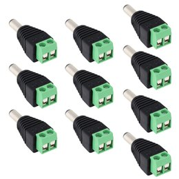 Wholesale 10pcs pack DC Male to AV Screw Terminal Block Connector kit for Power Adapter CCTV Accessories S419