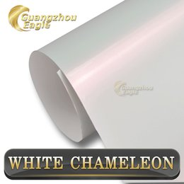 Wholesale Chameleon White Change to Pink Vinyl Wrap For Car Wrapping With Air Release size x20m Roll