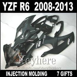 Best quality Injection molding for YAMAHA R6 fairing kit 2008 2009 -2013 matte black YZF R6 fairings 08 09 10 11 DU50