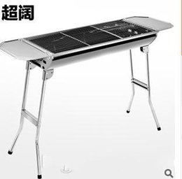 Wholesale 2015 AAA quality Outdoor Alumina fold stainless steel wild stove portable grill large thick charcoal barbecue pits Burn oven