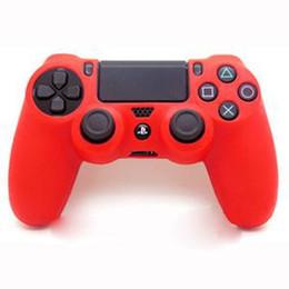 2017 contrôleur ps4 couvercle du boîtier Nouveau Caoutchouc de Silicone Peau Cas de Gel housse de Protection pour la Playstation 4 PS4 Contrôleur budget contrôleur ps4 couvercle du boîtier