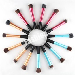 Wholesale 5 Beauty Miller Mixed Makeup Brush Powder Cosmetic Set Kit Professional Tools Brushes Maquiagem Aluminium Tube Colors Factory DHL