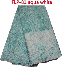 Free shipping African lace fabric for wedding party dress,French net lace fabric with sequins FLP-81