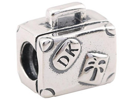 100% Sterling Silver Charms 925 Ale Trunk Charms for Pandora Bracelets Trip DIY Beads Accessories Free Shipping