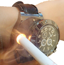 DHL F665 New Military USB Charging sports Lighter Watch Men's Casual Quartz Wristwatches with Windproof Flameless Cigarette Cigar Lighter