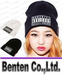 Wholesale NEW Parental Advisory Explicit Lyrics Beanies SKULL CAP HIP HOP Hat men Women Wool Cap Fashionable Winter Hat LLFA4180F