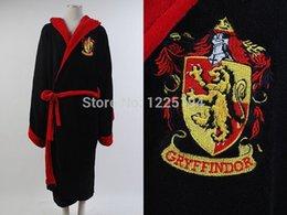 Wholesale Harry Potter Griffindor Logo Bathrobe Bath Robe Cosplay Costume Kimono Size M L
