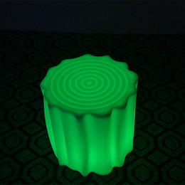 Wholesale 4 keys Remote control Led Luminous waterproof color changing powerful chair commercial Furniture bar stools of cube lighting