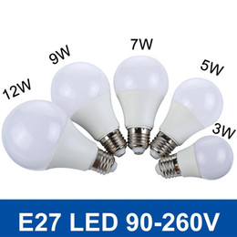 Wholesale New Real Watt LED Bulb E27 W W W W W V V LED SMD5730 Fast Heat Dissipation High Bright Lampada LED Lights