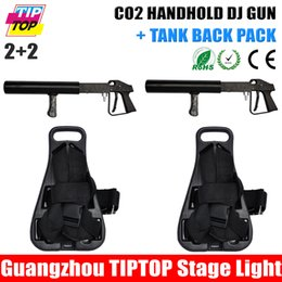 Wholesale Manufacturer Co2 Gun With Back pack Support Nightclub Dj Mobile Mini Manual CO2 Sprayer Jet Freezing Carbon dioxide co2 jet column
