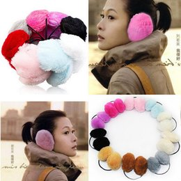 Wholesale-2016 Women Men Winter Ear Warmers Behind the Ear Style Fleece Muffs AT245
