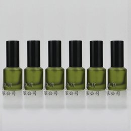 15ml olive green frosted Glass travel refillable perfume bottle with black aluminum sprayer,perfume container,thick bottom