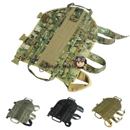 Wholesale 5 Color Hunting Military D Nylon Dog Training Molle Vest Airsoft Military Army Dog Clothes Load Bearing Dog Vest Free Ship order lt no