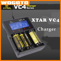Wholesale DHL XTAR VC4 Battery Charger Origianl With USB Battery Charger Intelligently Identify Charger Short Circuit