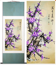 Wholesale wintersweet art painting traditional Chinese Art Painting Home Office Decoration Chinese painting