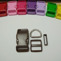 Wholesale 25 Sets mm BROWN COLOR Dog Collar Hardware Curved Side Release Buckle Set