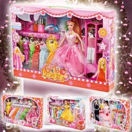 Muñecas del bjd en Línea-Al por mayor-Barbiee muñeca para los zapatos de las muchachas + + ropa de muebles accesorios hechos a mano vestidos de princesa Barbiee mini juguetes muñeca BJD 4 tipos