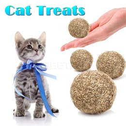 Wholesale 10pcs Pet Toys Ball Edible Catnip Tasty Safe for Pet Dog Cat Teaser Chasing Chewing Treating Toys Pet New Funny
