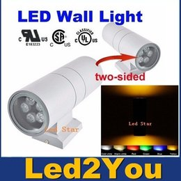 Promotion dans la lumière conduit 6w LED Lampe de mur extérieur Jardin Décoration murale éclairage extérieur Appliques Fixture 6W 12W 18W 24W 36W Double UP-Bas mural Lumière 85-265V