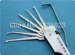 Wholesale 2015 locksmith tools key cutting machine lock pick The class Haoshi stainless steel in single hook tool free freight